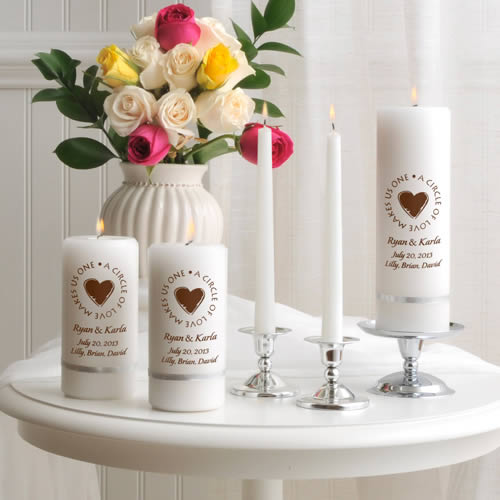 Second Marriage Unity Candle Set  Weddings