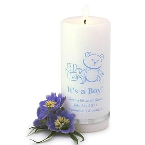 Its A Boy Candle baby shower favors
