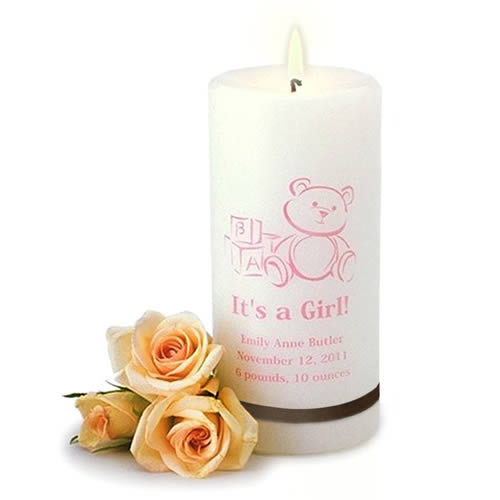 Its A Girl Candle baby shower favors