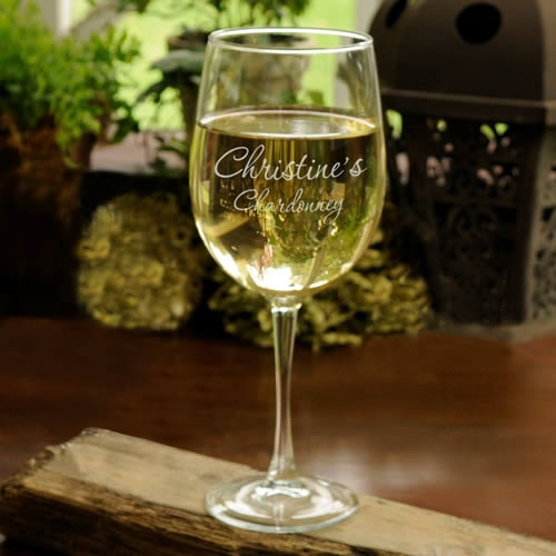 Personalized Connoisseur White Wine Glass (19 oz.)200  Weddings