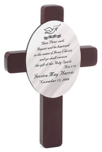 Personalized Oval Baptism Cross ? Acts 2 Verse 38wholesale/GC460.jpg Wedding Supplies