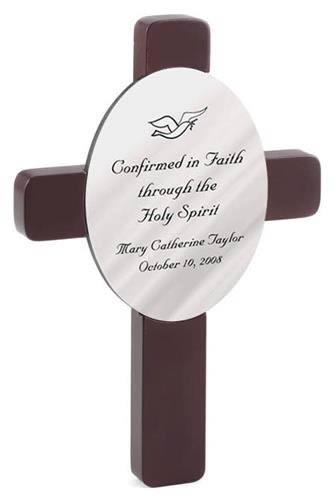 Personalized Oval Confirmation Cross ? Confirmed in Faithwholesale/GC461.jpg Wedding Supplies