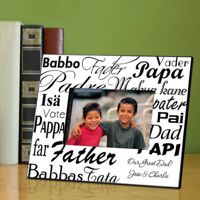 Personalized Dad in Translation Frame200  Weddings