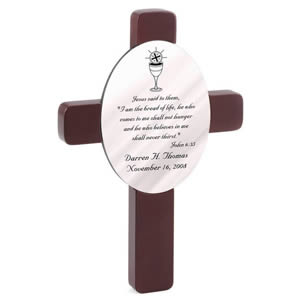 Personalized First Communion Cross baby shower favors