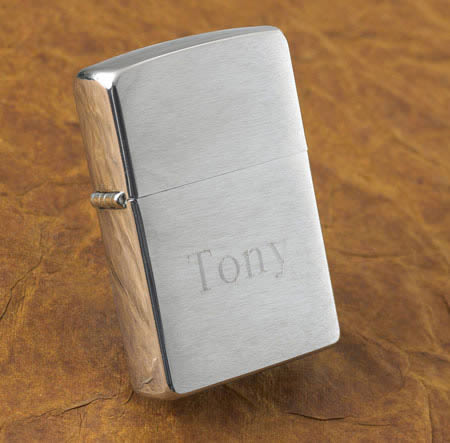 Personalized Brushed Chrome zippo Lighter200  Weddings