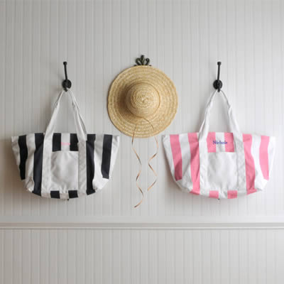 Personalized Candy Striped Beach Tote Bagwholesale/GC507.jpg Wedding Supplies