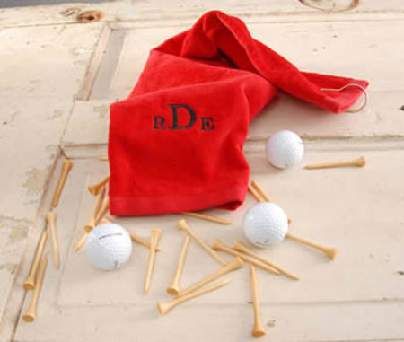 Personalized Golf Towel (black, navy, red)wholesale/GC513.jpg Wedding Supplies