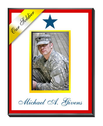 Personalized Blue Star Military Family Frame200  Weddings