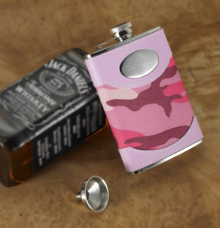 Personalized Pink Dynasty Camouflage Flask (8 oz.)200  Weddings