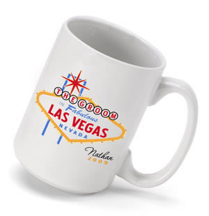 Personalized Vegas Groom Coffee Mug (15 oz.)  Weddings