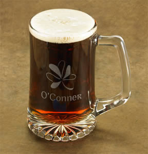 Personalized Shamrock Beer Mug (25 oz.)200  Weddings