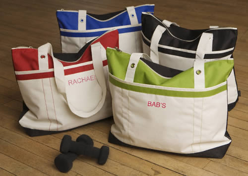 Personalized Fitness fun Tote (black, blue, red, green)200  Weddings
