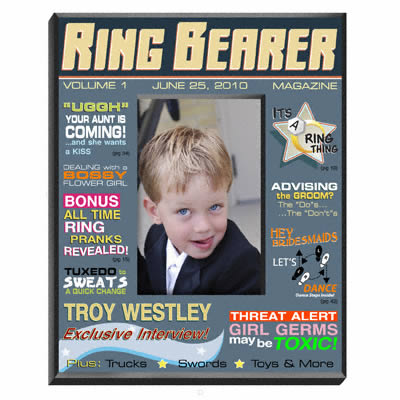 Personalized Ring Bearer Magazine Frame200  Weddings