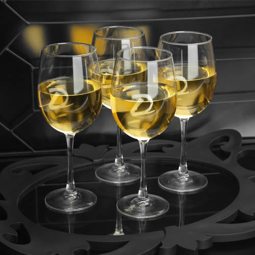 Personalized White Wine Quartet (set of 4, 19 oz)wholesale/GC765.jpg Wedding Supplies