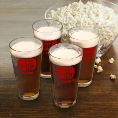 Personalized 64 oz Beer Growler + Pub Glass Set200  Weddings