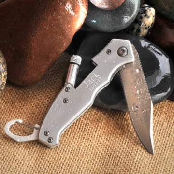 Personalized Klondike Folding Lockback knife with flashlight200  Weddings