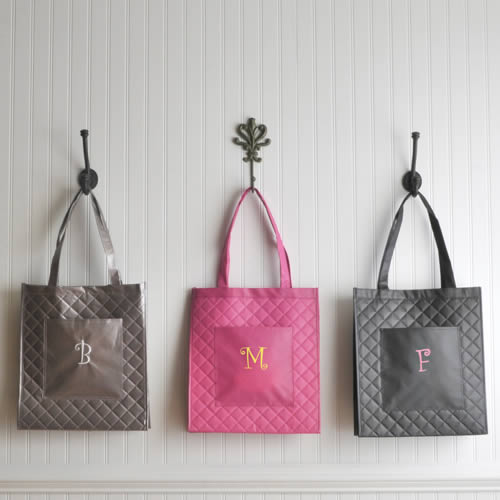 Personalized Village Shopping Tote (3 colors)wholesale/GC795.jpg Wedding Supplies