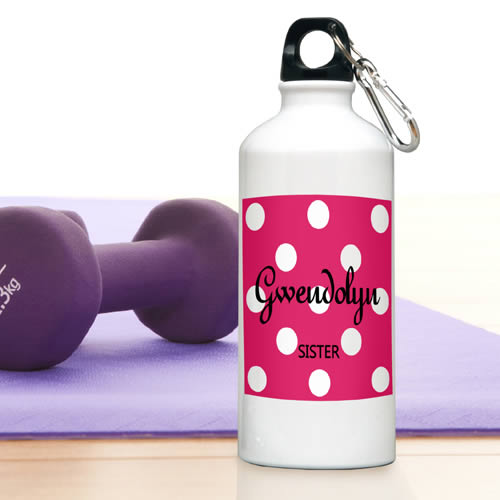 Personalized Polka Dot Water Bottle200  Weddings