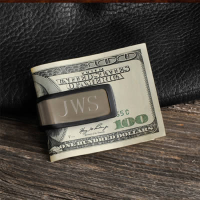 Personalized Sporty Fit Money Clip200  Weddings
