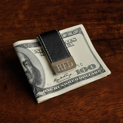Personalized Gentry Leather Money Clilp200  Weddings