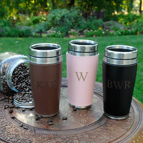 Personalized Executive Travel Tumbler Coffee Cup  Weddings