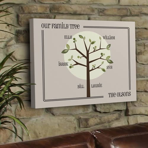 Personalized Family Tree Canvas Print200  Weddings