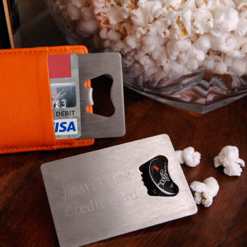Personalized Credit Card Bottle Opener200  Weddings