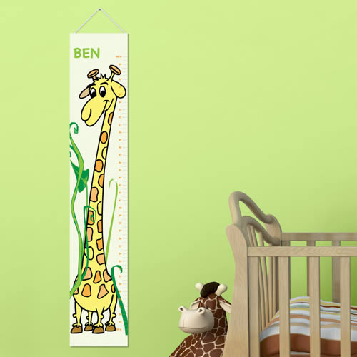 Personalized Kids Giraffe  Height Chart200  Weddings