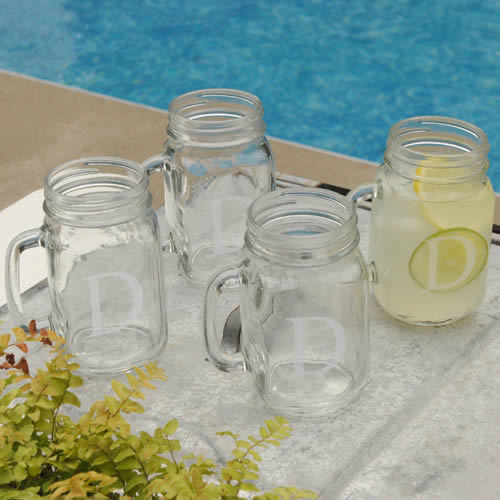 Personalized Classic Jar Glass Set of 4wholesale/GC942.jpg Wedding Supplies