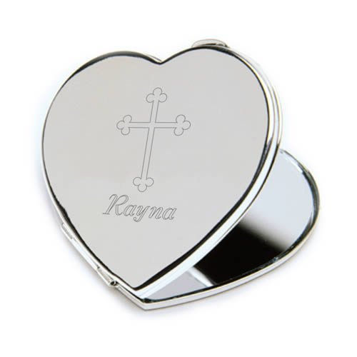 Personalized Inspirational Heart Compact Mirrorwholesale/GC966.jpg Wedding Supplies