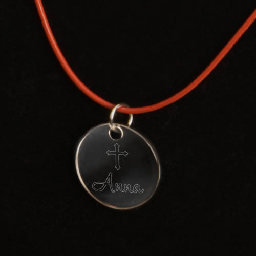 Personalized Inspirational Leather Necklace200  Weddings