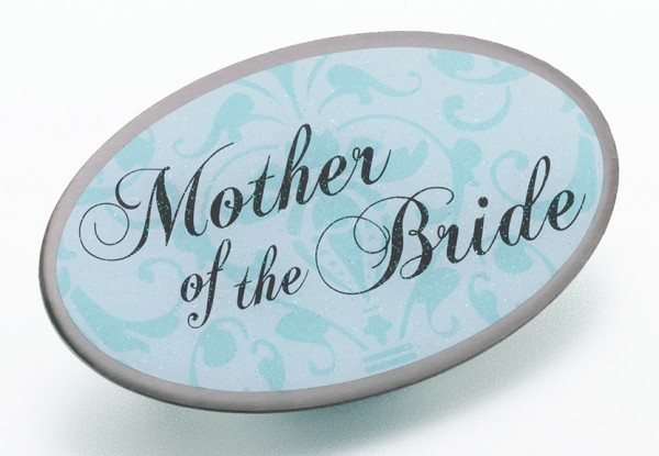 new Aqua Oval Mother of the Bride Pin200  Weddings