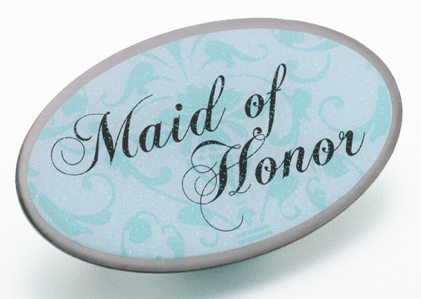 NEW Aqua Oval Maid of Honor Pin200  Weddings