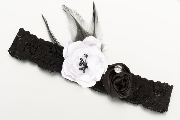 Black Vintage Lace Garter Weddings