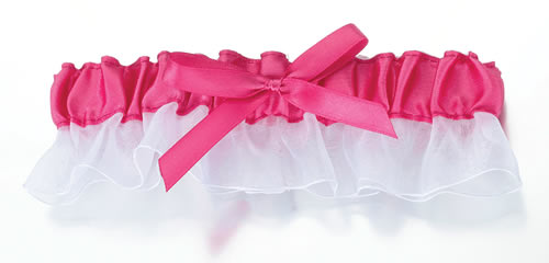 Pink Satin Garter200  Weddings