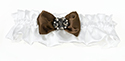 Brown Jeweled Cream Garter Weddings