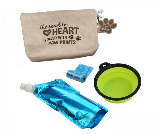 "Dog Travel Kit ""Road to My Heart is Paved with Paw Prints""wholesale/PA138-RO-2.jpg Wedding Supplies"