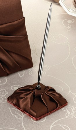 Brown Satin Pen Set Weddings