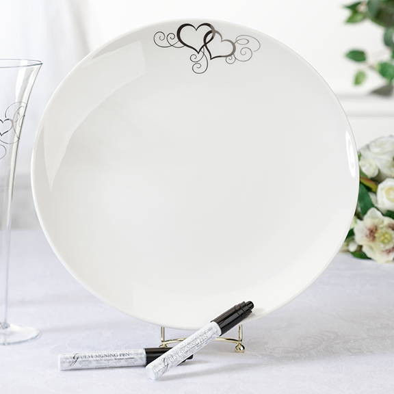 Heart Guest Signing Plate200  Weddings