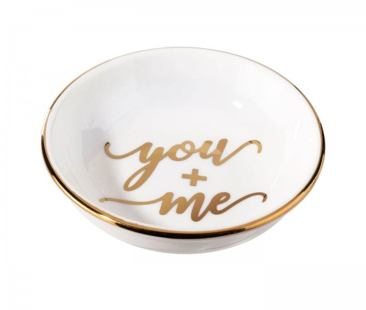 You and Me Ceramic Ring Dishwholesale/RA110-YM-2.jpg Wedding Supplies