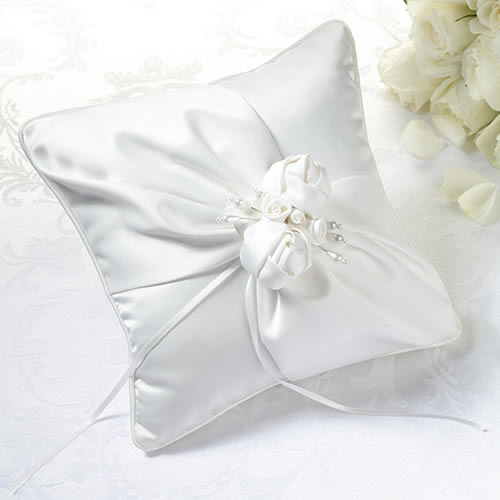 CLEARANCE Cream Rose Ring Bearer Pillow200  Weddings
