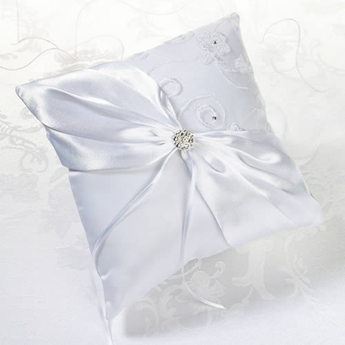 NEW White Lace Ring Bearer Pillowwholesale/RP385_____W__L.jpg Wedding Supplies