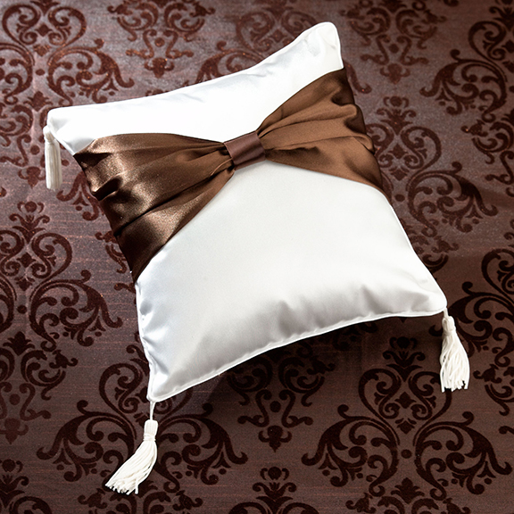 Brown Sash Ring Pillow200  Weddings