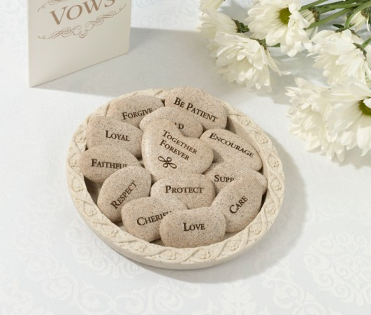 Vow Stones (Set of 13 Stones with Plate)200  Weddings