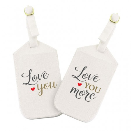 Love You More Luggage Tag Set  Weddings