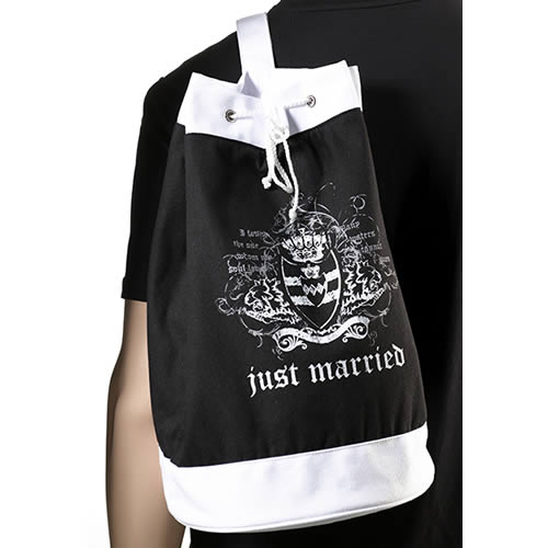 Just Married Black Beach Bag200  Weddings