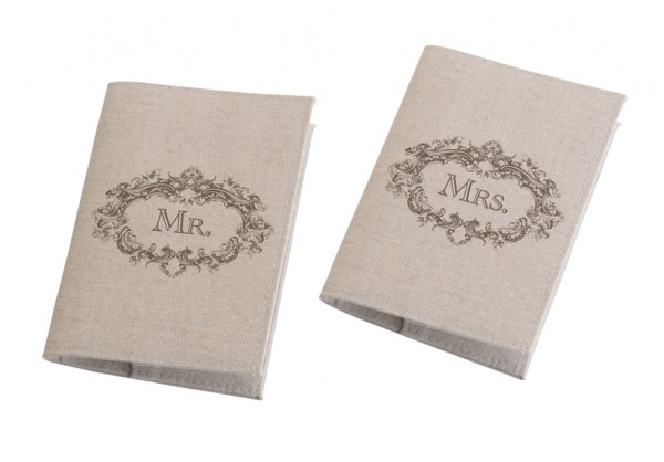 Mr. and Mrs. Tan Passport Coverswholesale/TR580_____MM.L.jpg Wedding Supplies