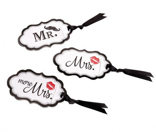 Lips/Mustache Luggage Tags200  Weddings