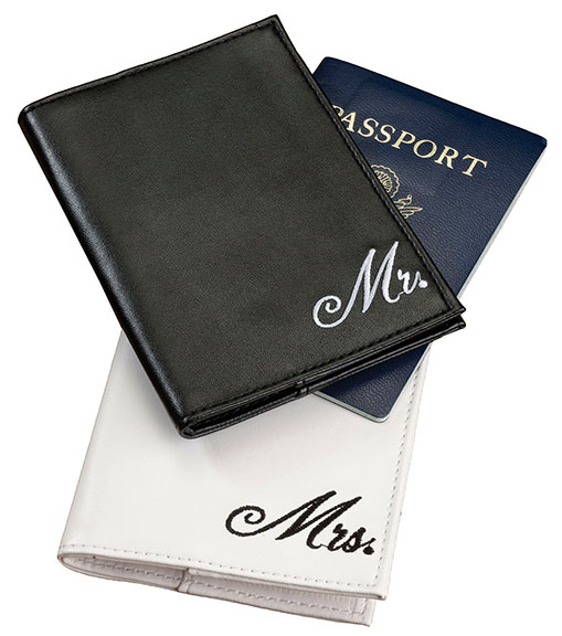 Pair of Mr. and Mrs. Passport Covers200  Weddings