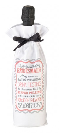 Bridesmaid (Sidekick) Wine Bag200  Weddings